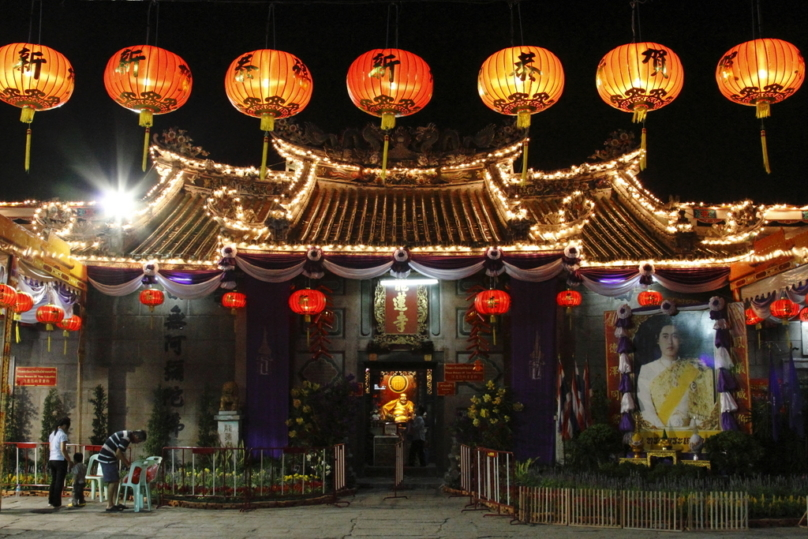 チャイナタウンの寺院