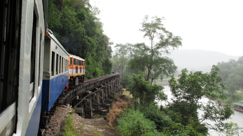 泰緬鉄道からの風景